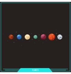 Game element planets vector
