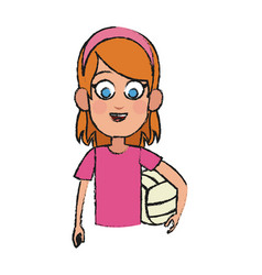 Girl cartoon icon vector