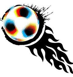 halftone soccer ball vector image vector image