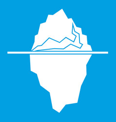Iceberg icon white vector