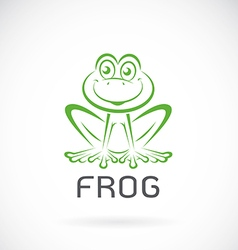 image of a frog design vector image