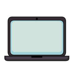 Isolated pc laptop vector
