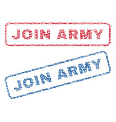 Join army textile stamps vector