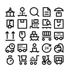 Logistics delivery Colored Icons 4 vector image vector image