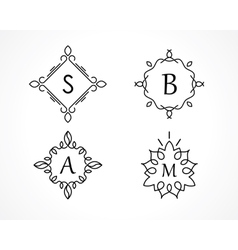 monogram vector image