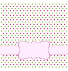 polka dot design frame vector image vector image