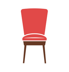 Red minimalistic chair vector
