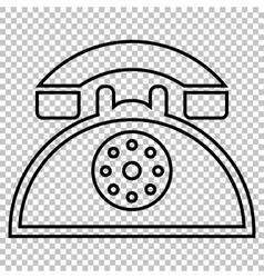 Retro telephone line icon vector