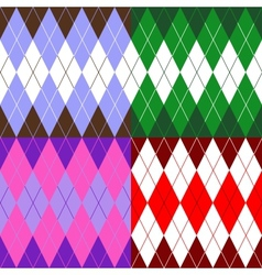 set of patterns wiyh rhombuses vector image vector image