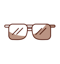 Shadow brown sunglasses cartoon vector