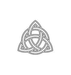 Triquetra trinity knot celtic symbol vector