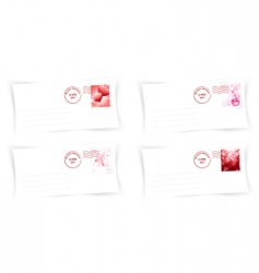 valentine day envelops vector image vector image