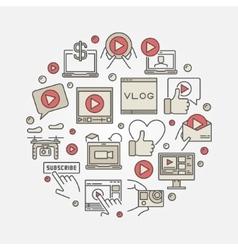Video blog concept vector