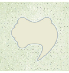 Vintage speech bubble vector image
