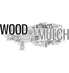 Wood mulch attracts termites text word cloud vector