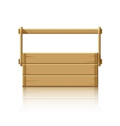 Wooden box for tools vector image vector image