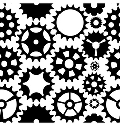 Machine gear wheel cogwheel seamless pattern vector