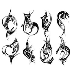 Set of tribal tattoo vector image