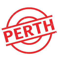 perth rubber stamp vector image