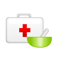 Icon first aid kit vector