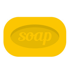 Yellow soap bar icon isolated vector