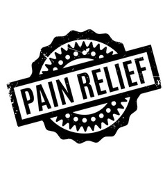 Pain relief rubber stamp vector