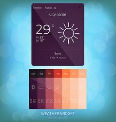 weather widget 2 vector image