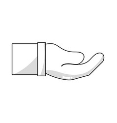 line businessman hand and communication gesture vector image