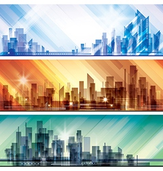Modern cityscape concept background vector