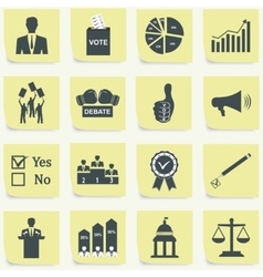 Politics voting and elections icons vector