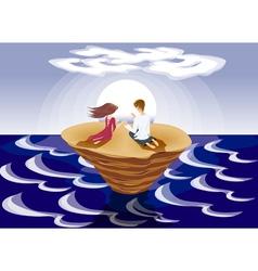 loving island vector image