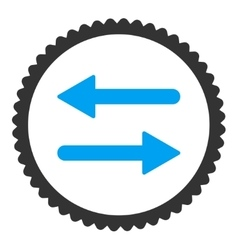 Arrows exchange flat blue and gray colors round vector