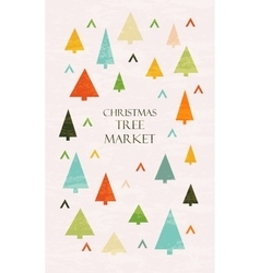 Christmas tree market lettering vector