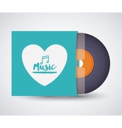 Music record design vector