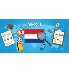 Nexit netherland exit from europe organization vector