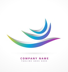 abstract logo shape design vector image vector image