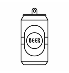 Aluminum can icon outline style vector