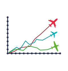 aviation statistics infographic vector image