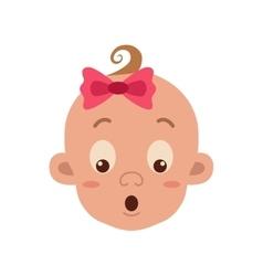 Baby facial expression vector