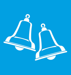 Bells icon white vector
