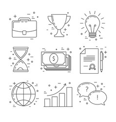 Business line design icons vector