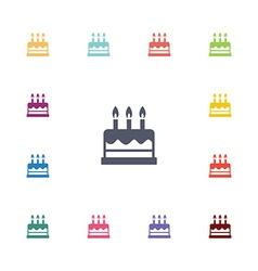 Cake flat icons set vector