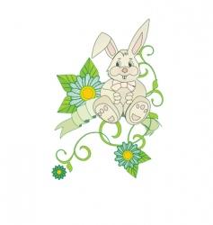 chamomiles bunny vector image