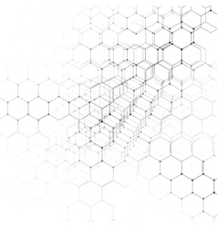 Chemistry 3D pattern hexagonal molecule structure vector image vector image