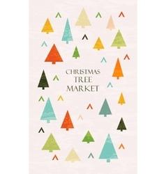 Christmas tree market lettering vector