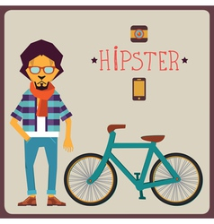 Concept of hipster vector image vector image