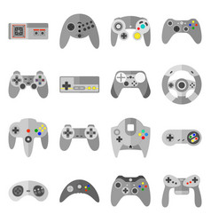 different game controllers vector image vector image