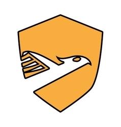eagle emblem icon vector image