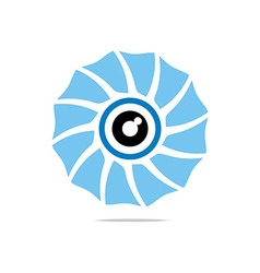 Eye circle eyeball symbol vector