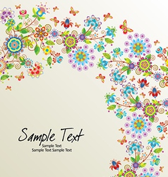 Floral line10 01 07 vector
